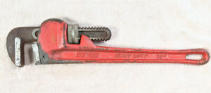 """Vintage SerVess 14"""" Heavy Duty Straight Pipe Wrench. Very Good"""
