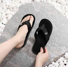 Men's Summer Sandals, Beach Flip Flops Casual Comfort Slippers Shoes Black