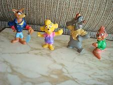 4 Tailspin complete set 1991Kellogg PVC Toys Disney Molly,Kit,Baloo,Don Karnage,