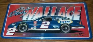 RUSTY WALLACE #2 MILLER LITE CAR ACTION METAL LICENSE PLATE BRAND NEW!!!