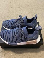 Adidas NMD R1 STLT PK W Primeknit Shoes Women's Steel Blue Pearl Ash Sz 5.5