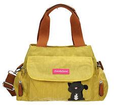 SWANKYSWANS Womens Ladies Shoulder Bag Nylon Cat Day Designer Handbag Black Blu