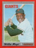 1970 Topps #600 Willie Mays GOOD+ CREASE HOF San Francisco Giants FREE SHIPPING