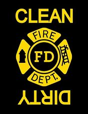 METAL DISHWASHER MAGNET Firefighter Ladder Hydrant Clean Dirty Dishes MAGNET