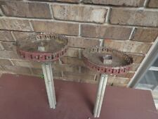 PAIR OF ITALIAN 18TH CENTURY TOLE CANDLE DRIP PANS FOR RESTORATION OR PROJECT