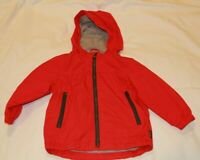 NEW Baby Gap Red (2 Years) Zip Up Raincoat/Light Jacket w/hood Water Resistant