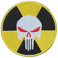 Megadeth Nuclear Skull Punisher Power Radiation Danger Iron on Patches #S097
