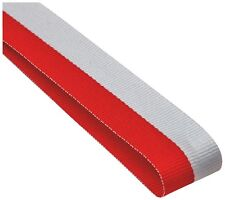 Medal Ribbon / Lanyard RED + WHITE with Gold clip GREAT VALUE 22mm wide