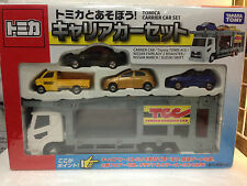 JAPAN TOMY TOMICA TRANSPORTER CARRIER CAR SET TOYOTA NISSAN FAIRLADY MARCH SWIFT
