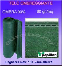 RETE OMBREGGIANTE METRI 100 MT TELO OMBRA 90%25 VERDE FRANGIVISTA FRANGIVENTO