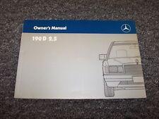 1988 Mercedes Benz 190D 2.5 Diesel Owner Owner's Operator User Guide Manual 2.5L