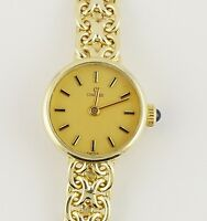 14k Yellow Gold Ladies Concord Gold Face Watch
