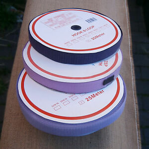 30mm Wide Sew On Tape Hook and Loop 25 Metres (1 Roll)