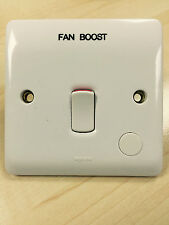 Legrand 730016 Engraved Fan Boost 20A DP Switch With Flex Outlet And Neon