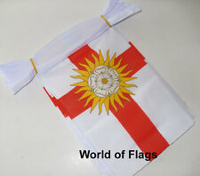 WEST RIDING of YORKSHIRE BUNTING 9m 30 Fabric Flags English County Flag 9 Metres