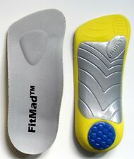 3/4 length Orthotic Insoles + Arch Support + Heel pad, flat feet, fallen arches