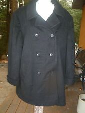 Larry Levine  Black Double-Breasted Shawl-Collar Men's Coat 12