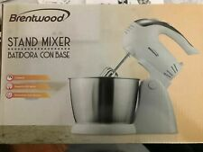 Brentwood SM-1152 5-Speed Stand Mixer with Bowl, White - NEW,
