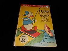 Les belles histoires Walt Disney 15 Donald à la pêche... Editions Colbert 1955