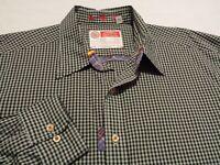 Robert Graham Mens XL Long Sleeve Button-Front Multicolor Plaid Check Shirt