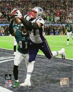 Rob Gronkowski TD Catch 2018 New England Patriots Super Bowl LII 52 8x10 Photo