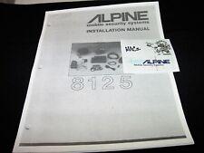 /////ALPINE 8125 Mobile SECURITY SYSTEM Car Auto ALARM INSTALLATION Manual🚘🔧💎