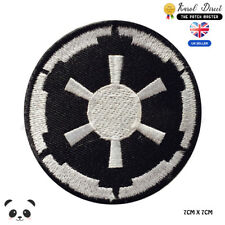 STAR WARS Black Imperial Embroidered Iron On Sew On Patch Badge For Clothes etc