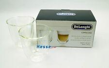 DeLonghi Cappuccino-Gläser-Set  2 Stck.  190 ml, doppelwandiges Thermoglas