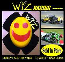 SPARKY WIZ KNEE SLIDERS SMILEY FACE RED - YELLOW