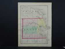 Michigan Map 1873 Double Sided, Counties of Alpena or Presoue Isle J19#81