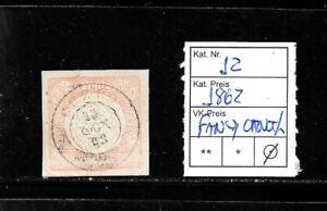 (57567) PERU CLASSIC STAMPS #12 1862 FANCY CANCEL