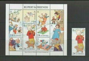 Guernsey 1993 Rupert Bear & Friends Mint MNH 24p + Mini Sheet