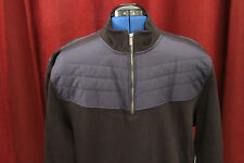 NWT Mens X-Large Calvin Klein Dressy Refined Black with Blue New XL 1/4 Zip