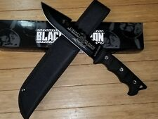 "Black Legion ""Liberty or Death"" Fixed Blade Knife with Nylon Sheath  NEW!!!"