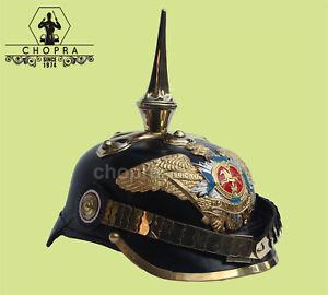 BUY PICKELHAUBE HELMET PRUSSIAN BRASS ACCENTS IMPERIAL OFFICER SPIKE 11/1
