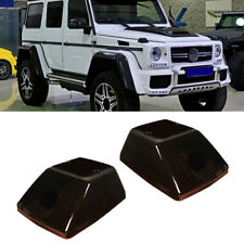 Black Smoked Lens Front Turn Signal Lamp Covers For Benz W463 G-Class 1986-2018