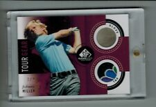 2014 SP GAME USED GOLF JOHNNY MILLER TOUR GEAR GLOVE & SHIRT TAG 1/2 RARE