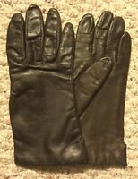 Vintage Genuine Leather Ladies Womens Sz 7 Brown Lined Winter Driving Gloves NEW