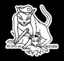 ALL CATS ARE BASTARDS  Patch / Aufnäher NEU Punk Oi Oi! AC/AB Kult Cops Fun CPS