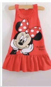 Minnie Mouse Vestito Festa/ Gonna Bimba Taglia: 3 anni