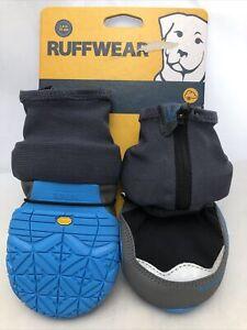 """Ruffwear Polar Trex Winter Dog Boots 3.0"""" 70mm Obsidian Black Blue 2 Boots New"""