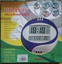 Reloj de Pared Digital con función calendario, alarma y termómetro