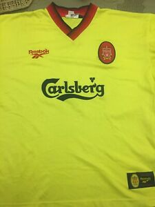 "1997 1999 Liverpool Away Football Soccer Shirt Jersey 42"" 44"" McManaman Owen Era"