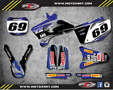 Yamaha YZF 250 - 2003 / 2005 stickers Full Custom Graphic Kit BLUE STEEL STYLE