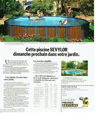 PUBLICITE ADVERTISING 116  1978  les piscines Sevylor
