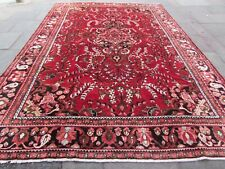 Vintage Hand Made Traditional Rugs Oriental Wool Red Blue Large Carpet 408x285cm