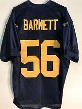 Reebok Authentic NFL Jersey Packers Nick Barnett Navy Throwback sz 46