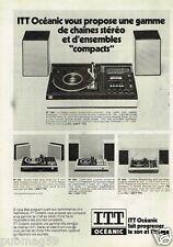 Publicité advertising 1977 La Chaine Stereo ITT Océanic