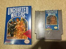 Uncharted Waters w/ New Battery & Replaceable Battery Terminal (Nintendo NES)