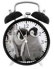 "Cute Baby Penguin Alarm Desk Clock 3.75"" Room Decor E149 Nice for Gifts wake up"